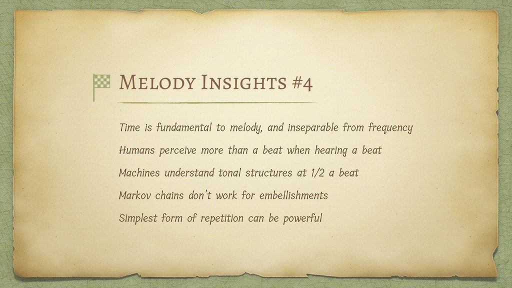 Melody Insights #4 Time is fundamental to melod...