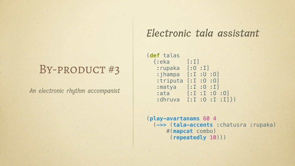 By-product #3 An electronic rhythm accompanist ...