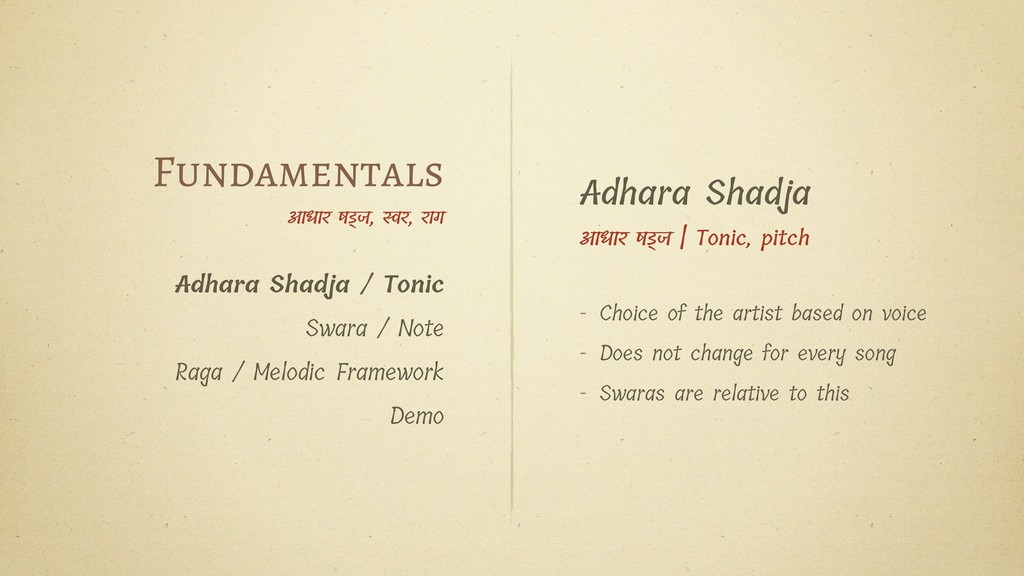 Fundamentals आधार षज, र, राग Adhara Shadja / To...