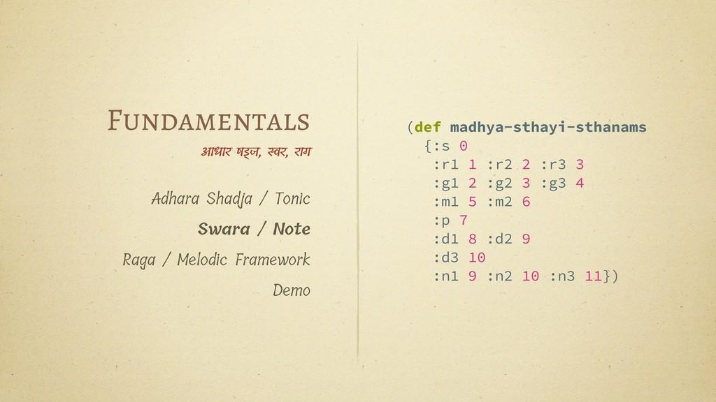 (def madhya-sthayi-sthanams {:s 0 :r1 1 :r2 2 :...