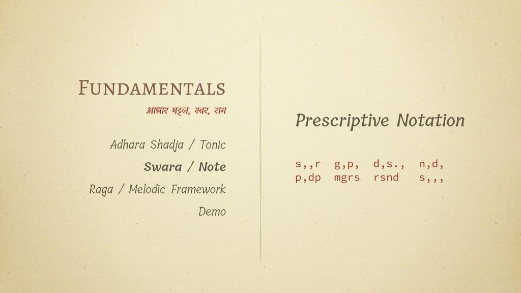 Prescriptive Notation s,,r g,p, d,s., n,d, p,dp...