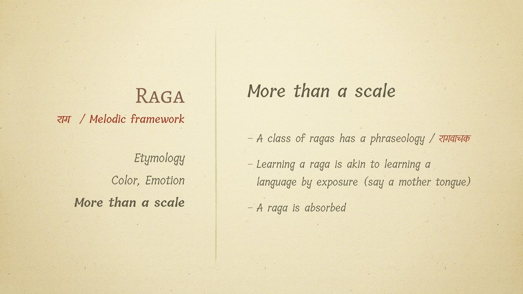 More than a scale – A class of ragas has a phra...