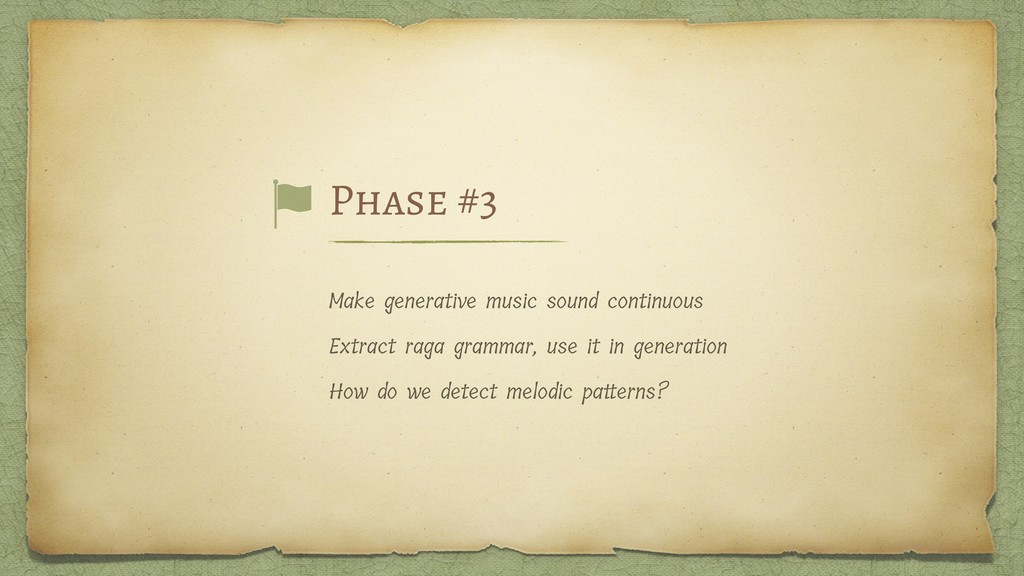 Make generative music sound continuous Extract ...