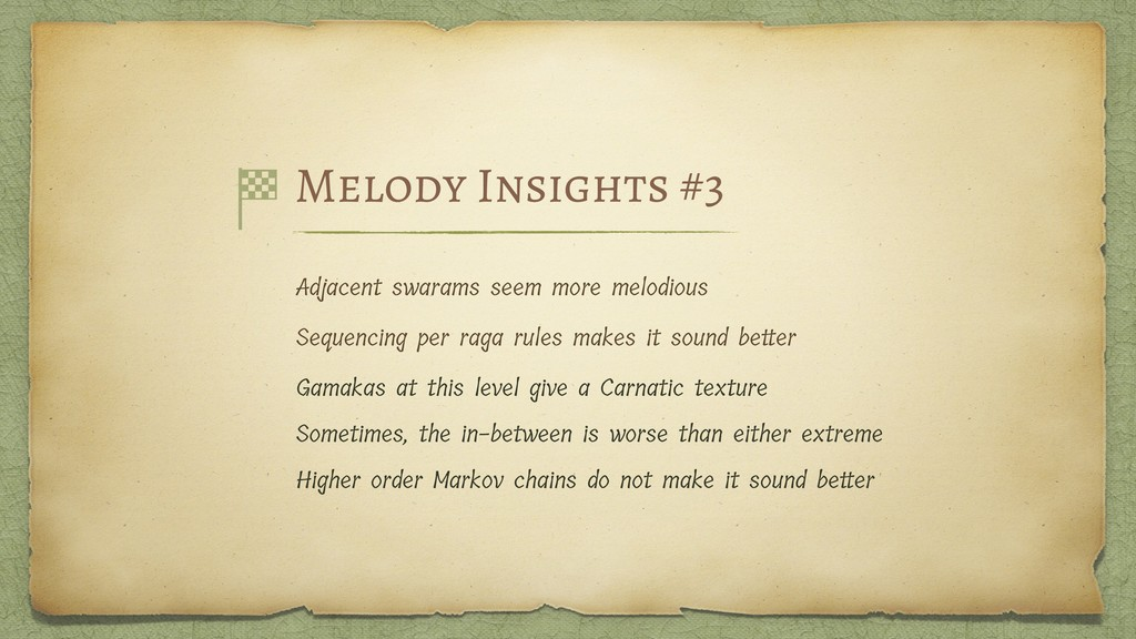 Melody Insights #3 Adjacent swarams seem more m...