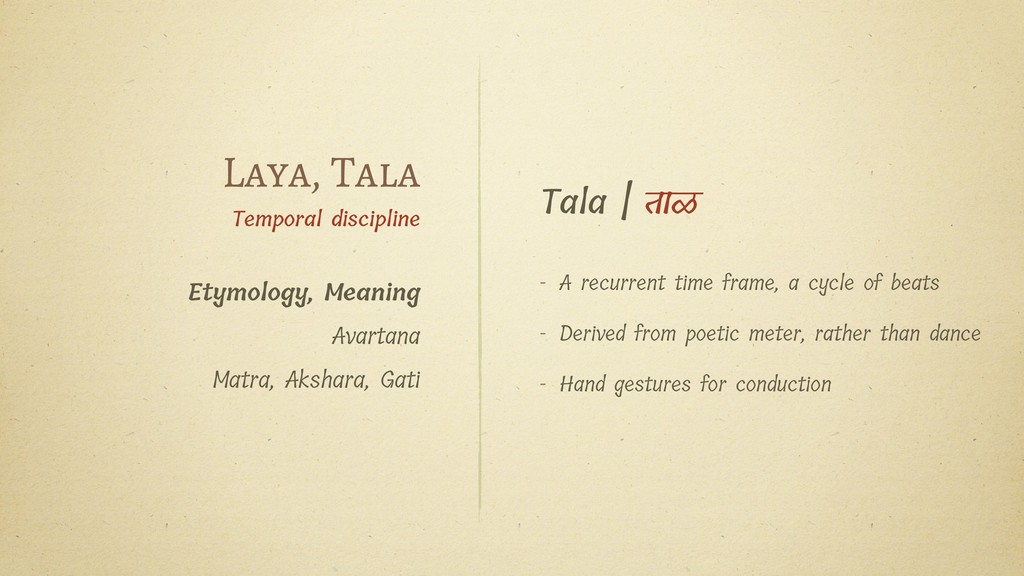 Tala   ताळ - A recurrent time frame, a cycle of...