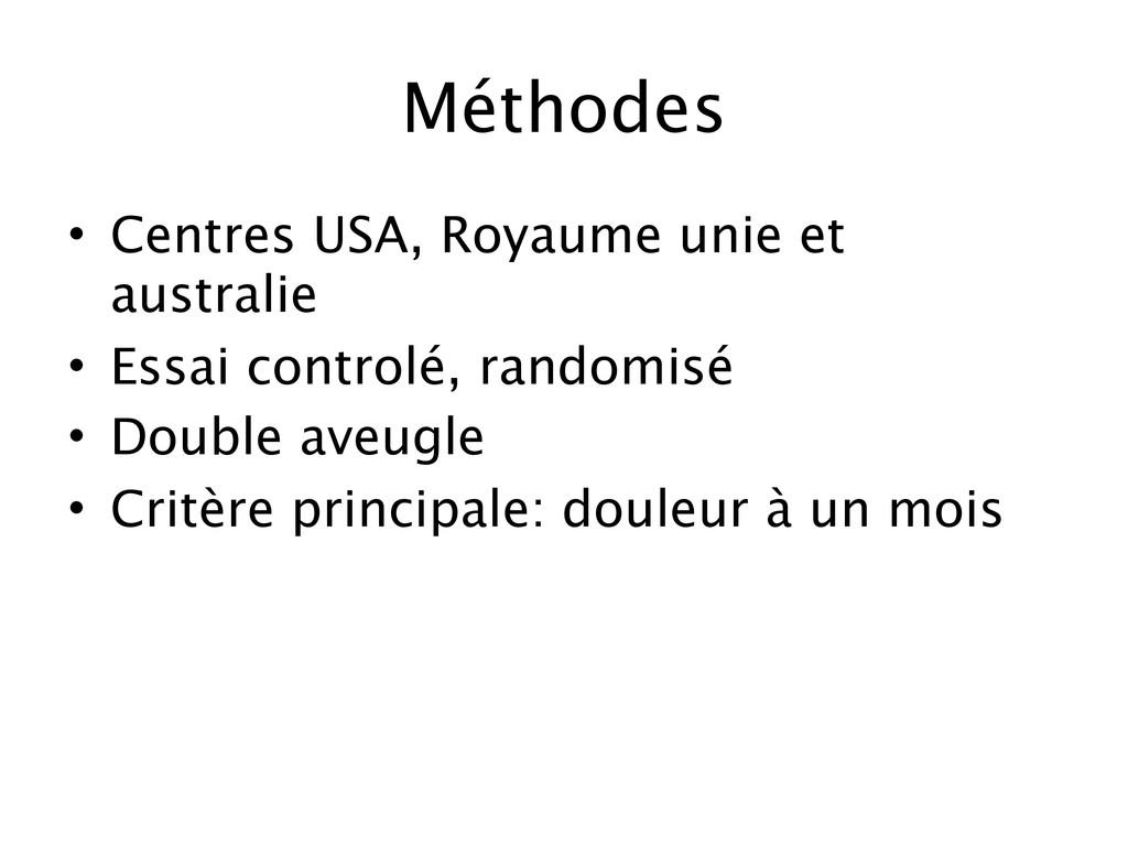 Méthodes • Centres USA, Royaume unie et austral...