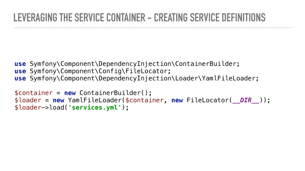 LEVERAGING THE SERVICE CONTAINER - CREATING SER...