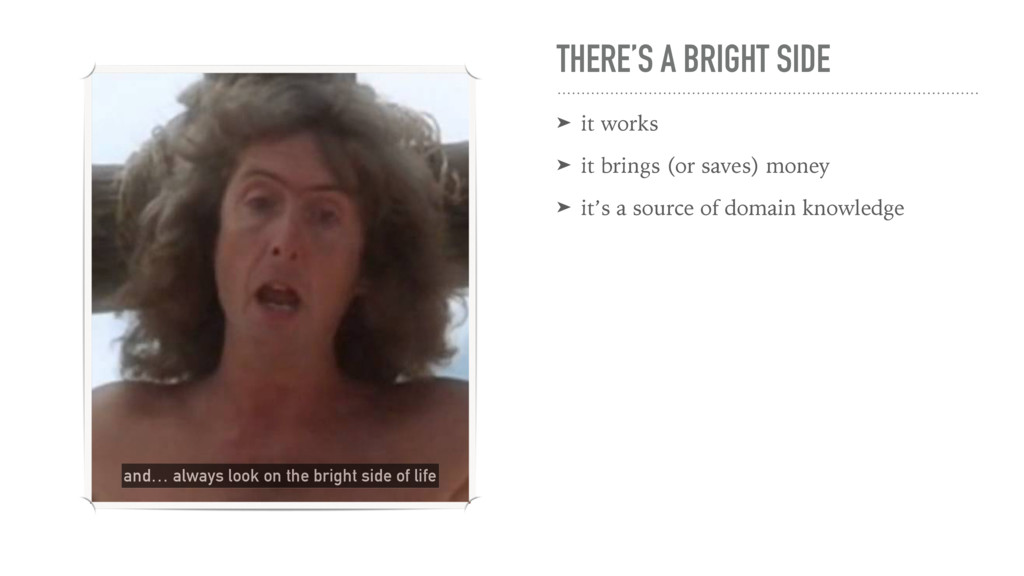 THERE'S A BRIGHT SIDE ➤ it works ➤ it brings (o...