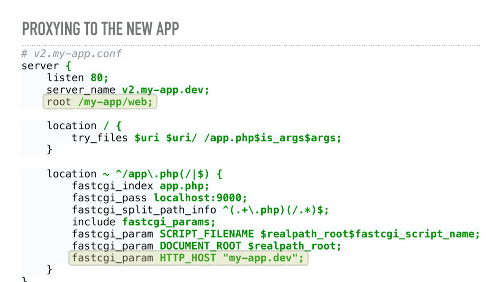 PROXYING TO THE NEW APP # v2.my-app.conf server...