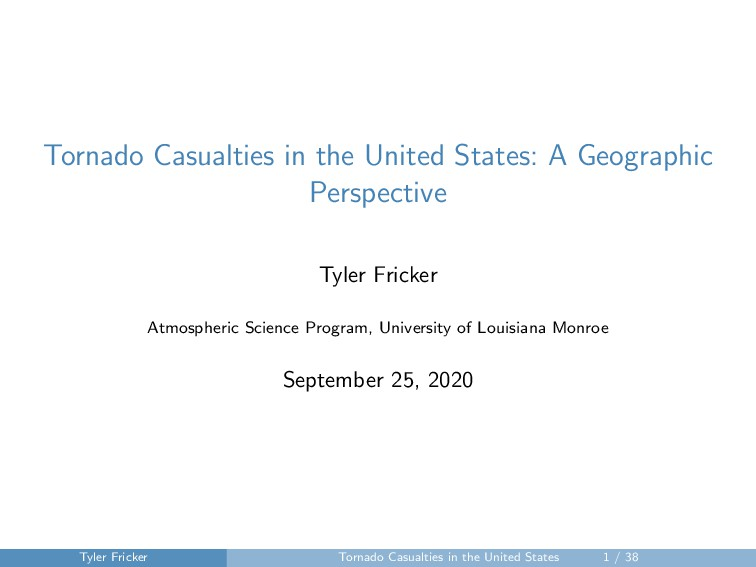 Tornado Casualties in the United States: A Geog...
