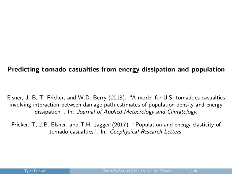 Predicting tornado casualties from energy dissi...