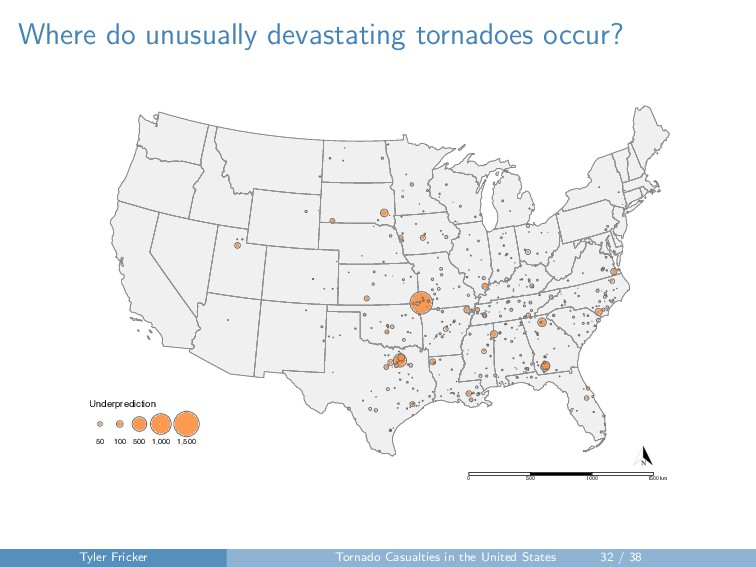 Where do unusually devastating tornadoes occur?...