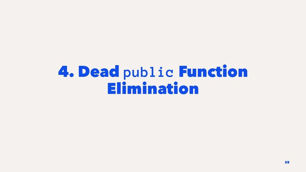 4. Dead public Function Elimination 28