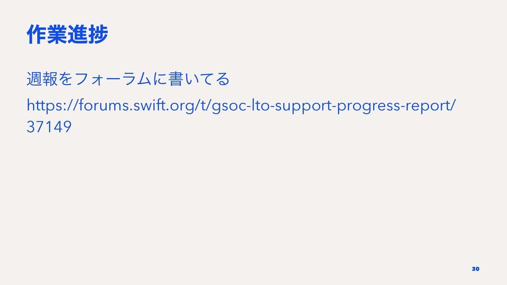 ࡞ۀਐḿ िใΛϑΥʔϥϜʹॻ͍ͯΔ https://forums.swift.org/t/g...