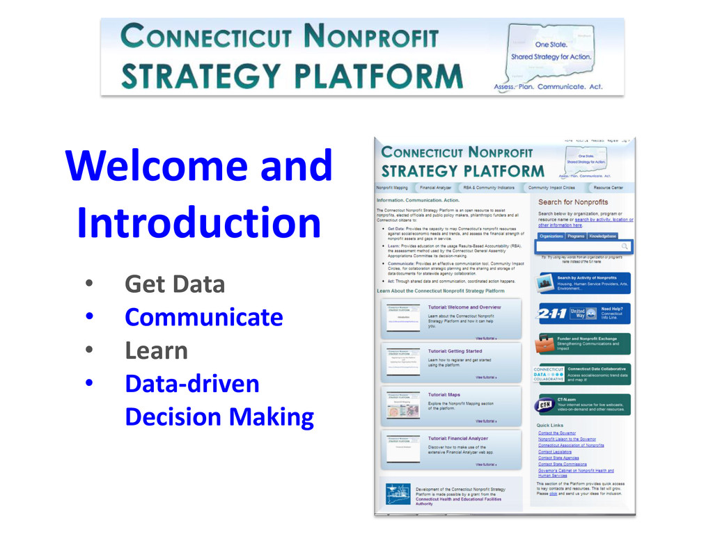 Welcome and Introduction • Get Data • Communica...