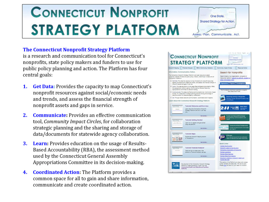 The Connecticut Nonprofit Strategy Platform is ...