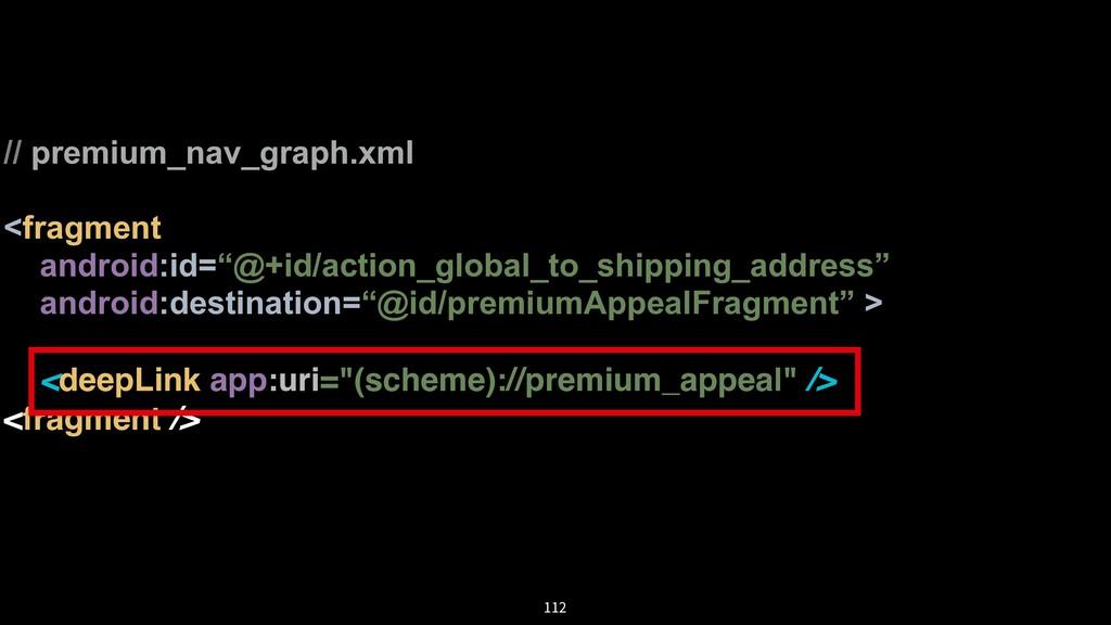 "// premium_nav_graph.xml <fragment android:id=""..."