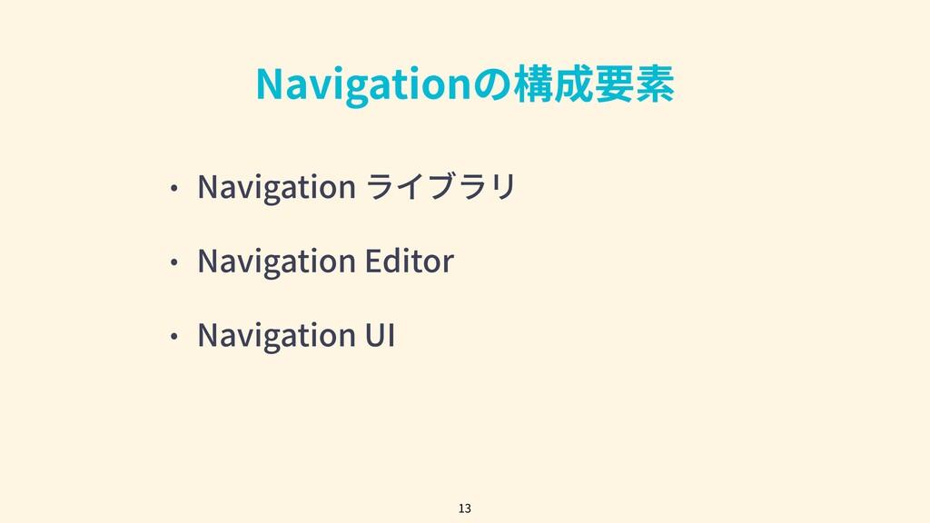 • Navigation ライブラリ • Navigation Editor • Naviga...