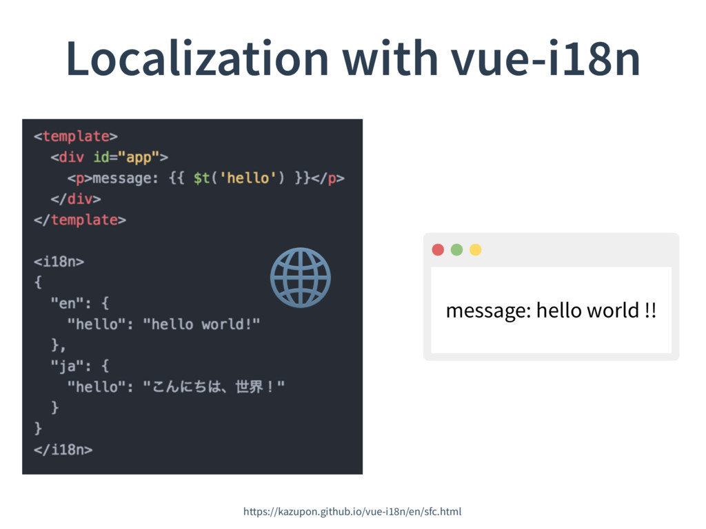 Localization with vue-i18n https://kazupon.gith...
