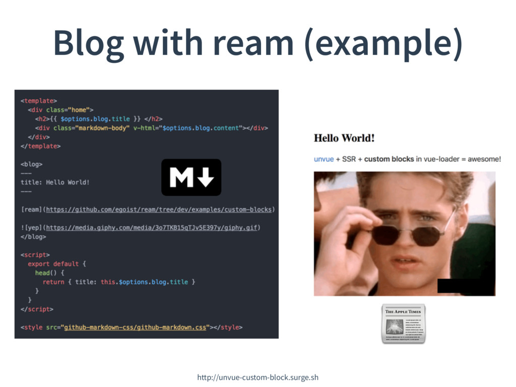 Blog with ream (example) http://unvue-custom-bl...