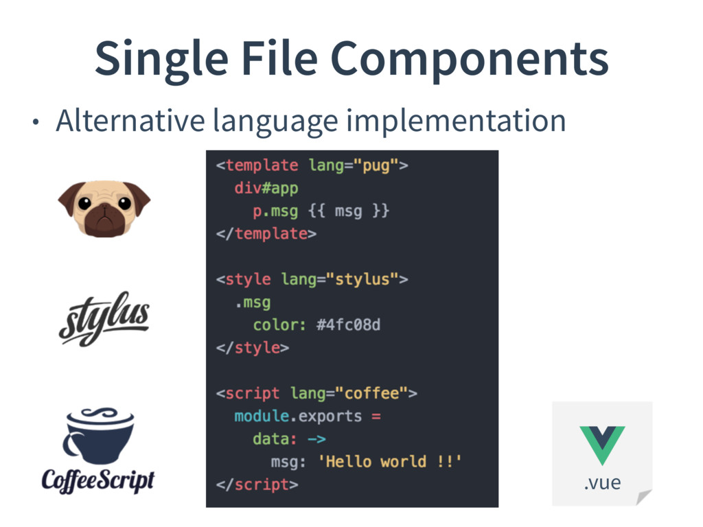 • Alternative language implementation Single Fi...