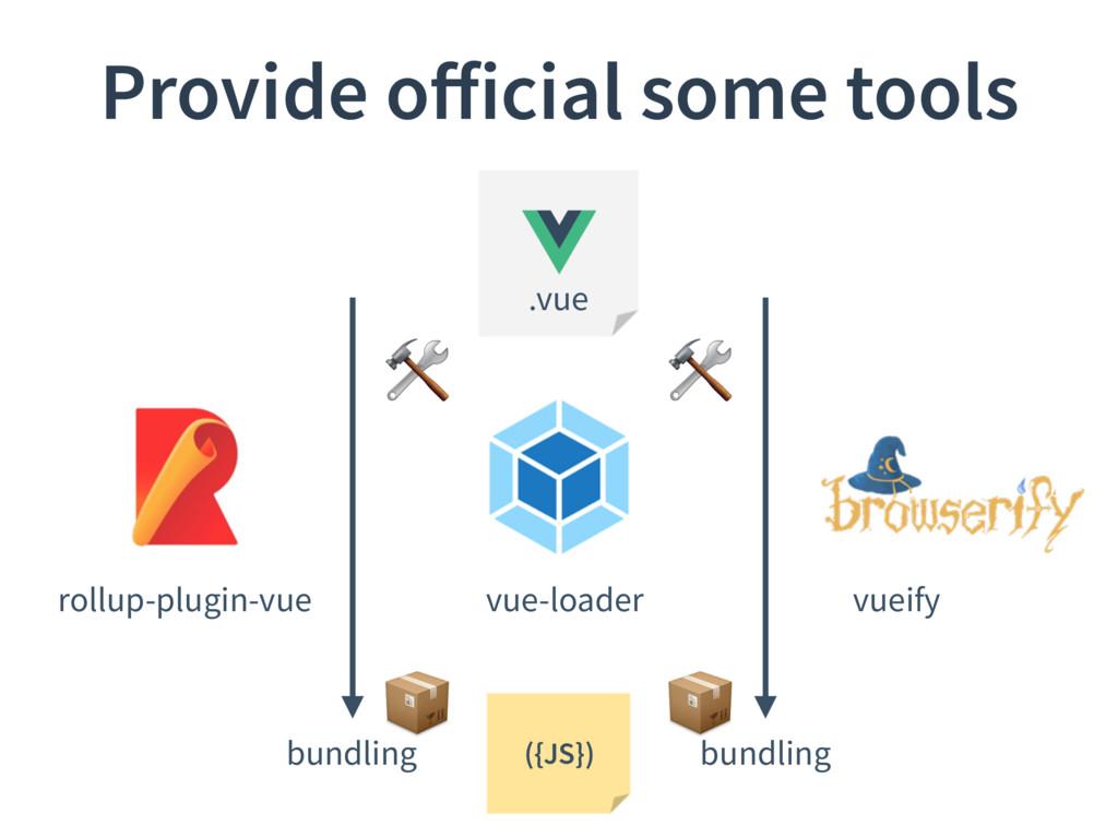 Provide official some tools .vue vue-loader roll...