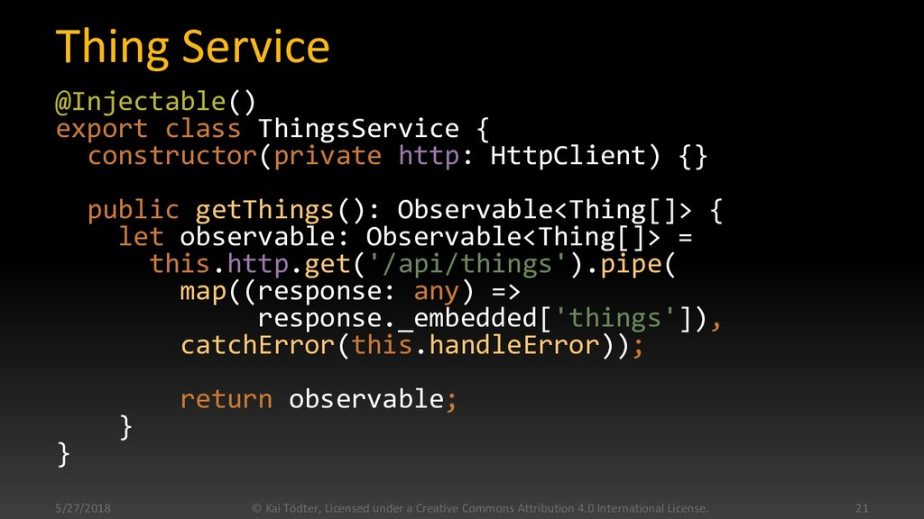 Thing Service @Injectable() export class Things...