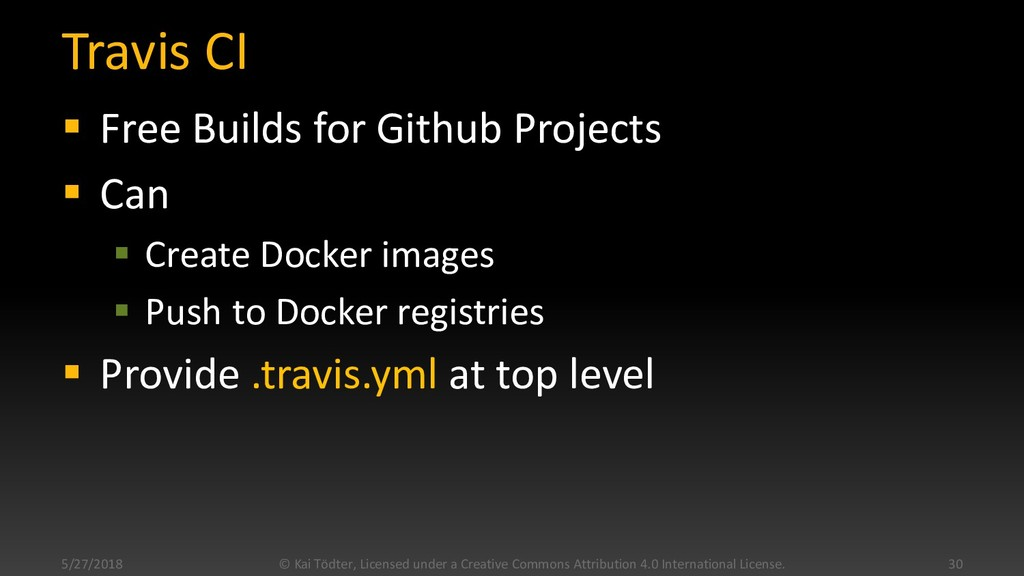 Travis CI  Free Builds for Github Projects  C...
