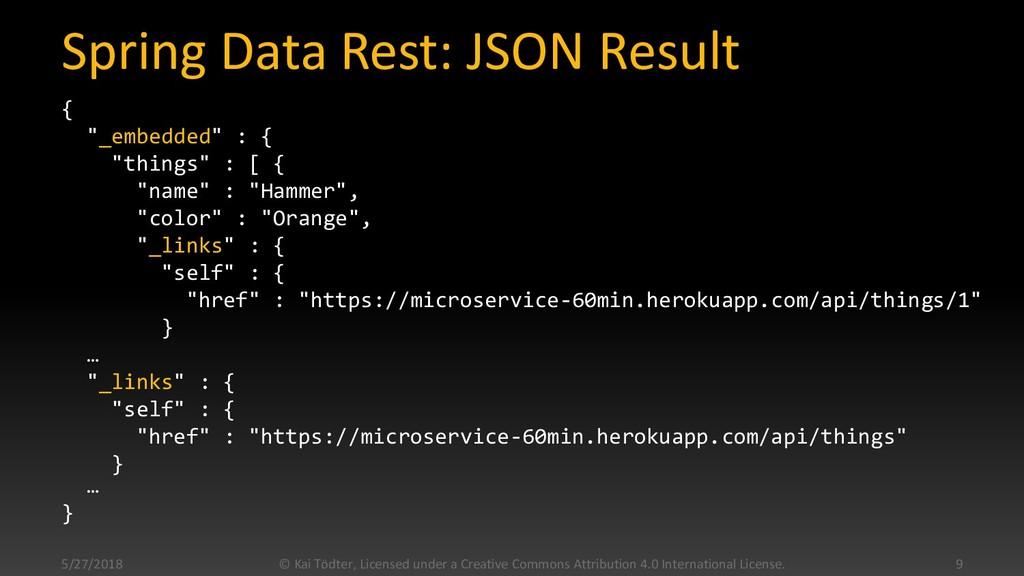 """Spring Data Rest: JSON Result { """"_embedded"""" : {..."""