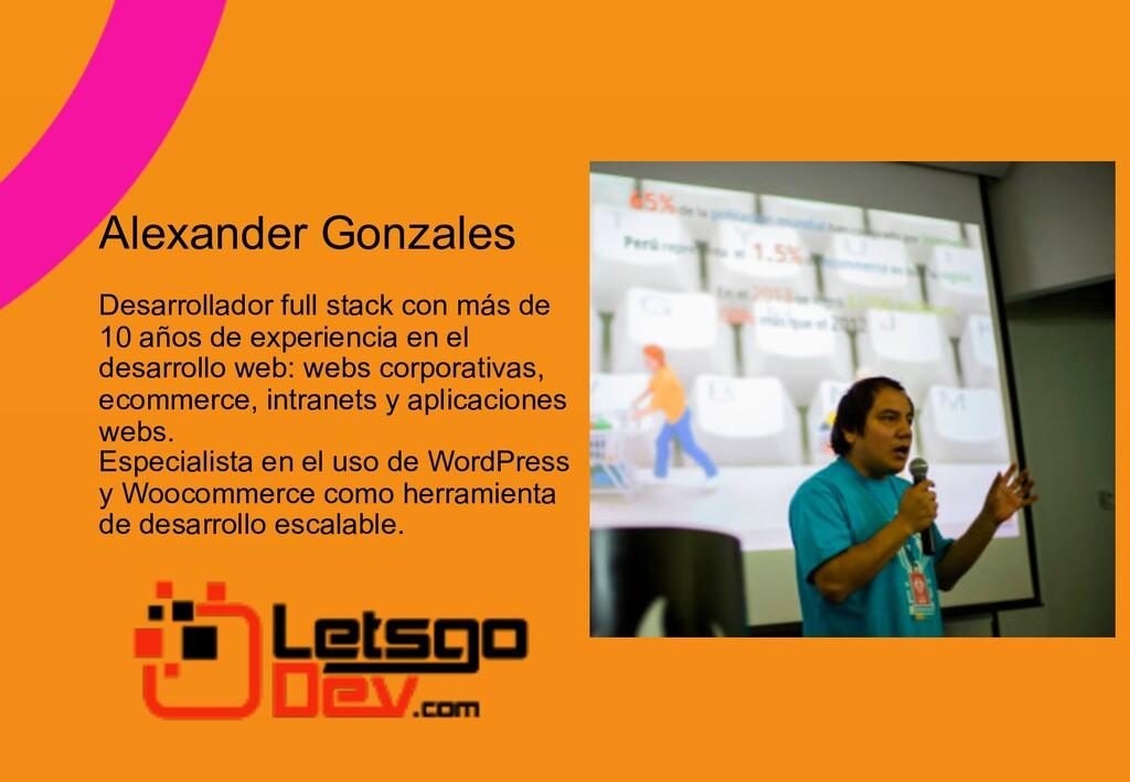 z Alexander Gonzales Desarrollador full stack c...