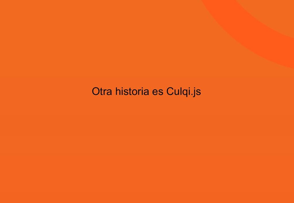 Otra historia es Culqi.js