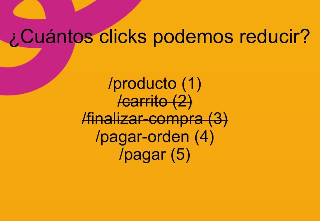 ¿Cuántos clicks podemos reducir? /producto (1) ...