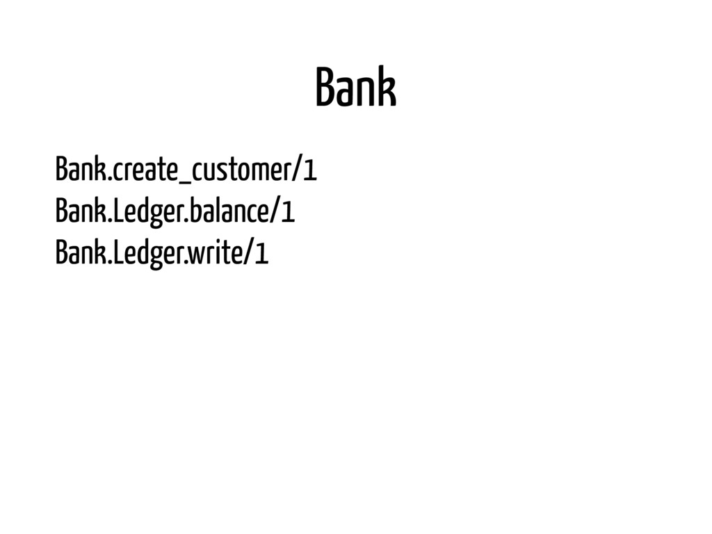 Bank Bank.create_customer/1 Bank.Ledger.balanc...