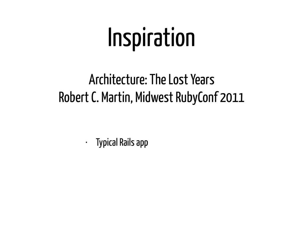 Inspiration Architecture: The Lost Years Rober...