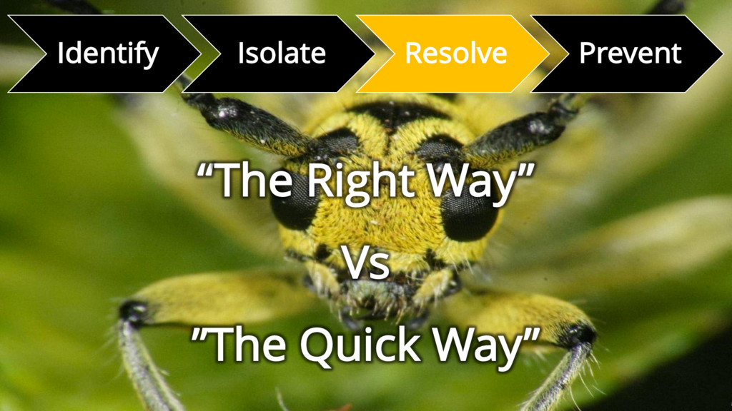 """Identify Isolate Resolve Prevent """"The Right Way..."""