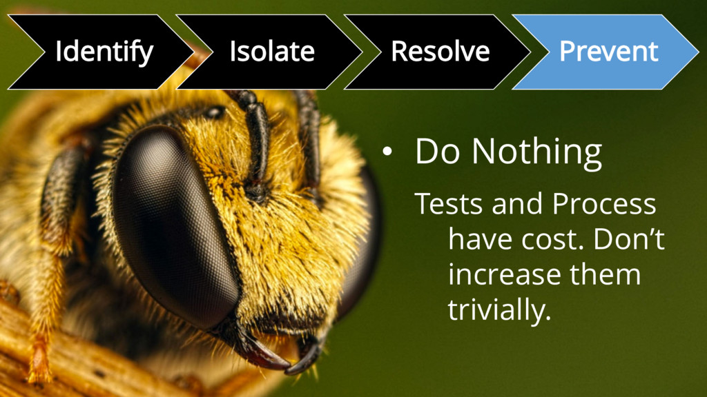 Identify Isolate Resolve Prevent • Do Nothing T...