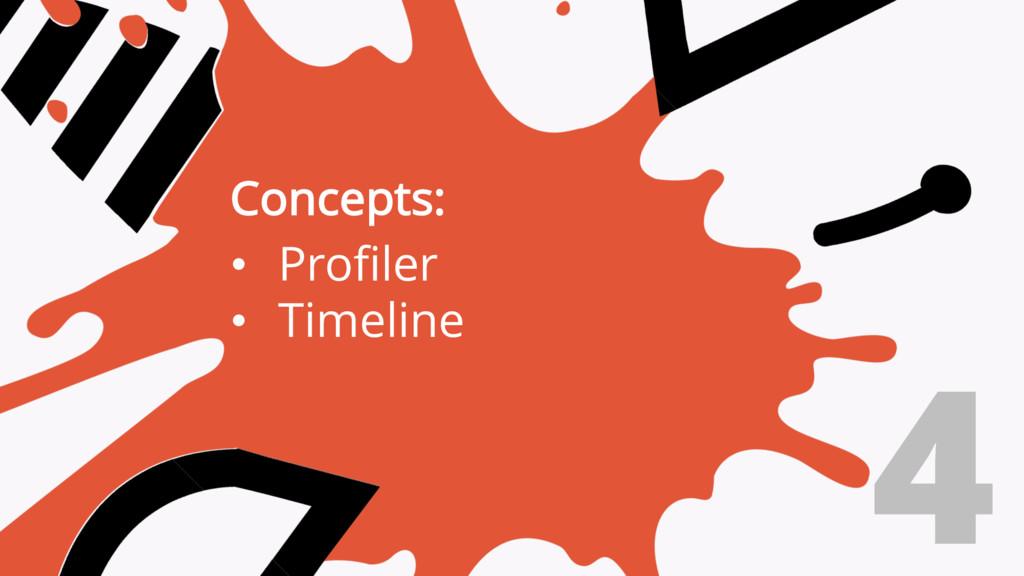 4 Concepts: • Profiler • Timeline