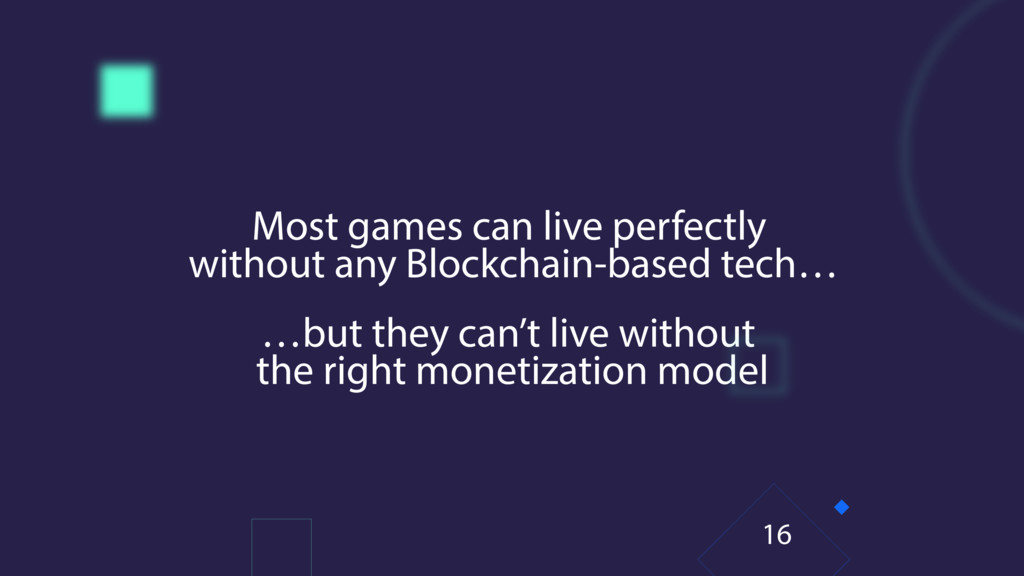 Most games can live perfectly without any Block...