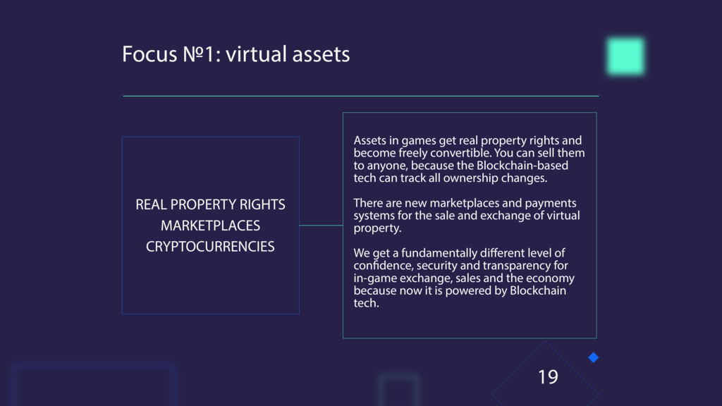 Focus №1: virtual assets REAL PROPERTY RIGHTS M...