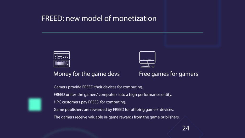 FREED: new model of monetization Money for the ...