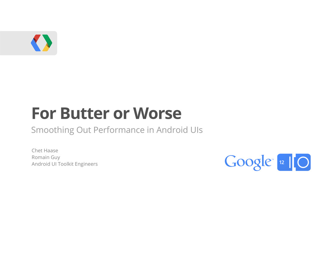 For Butter or Worse Smoothing Out Performance i...