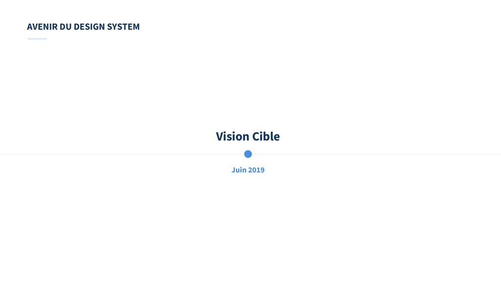 Juin 2019 Vision Cible AVENIR DU DESIGN SYSTEM