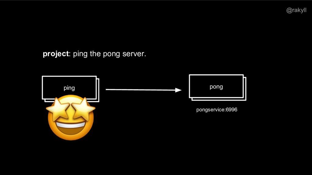 @rakyll ping pong pongservice:6996 project: pin...