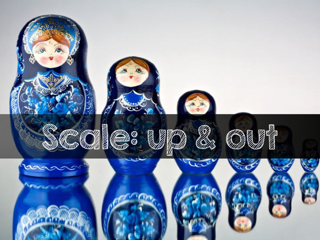 Scale: up & out