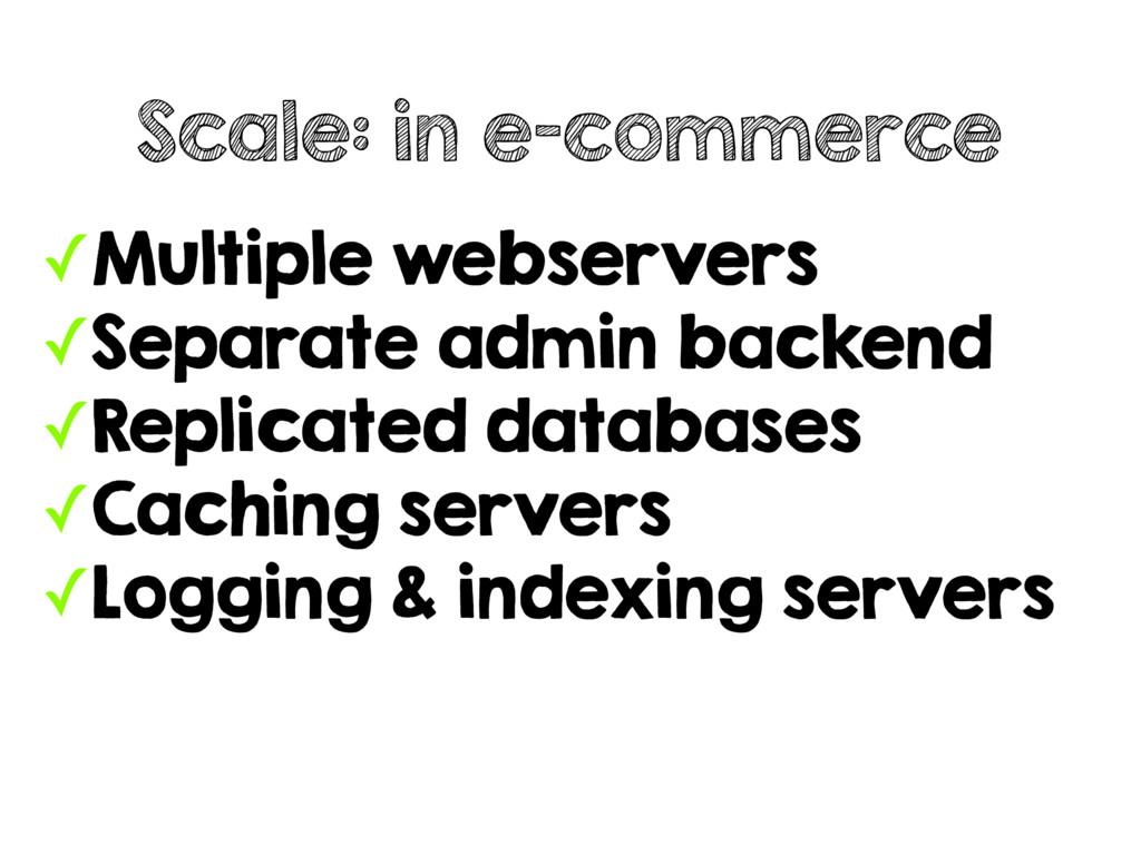 ✓Multiple webservers ✓Separate admin backend ✓R...