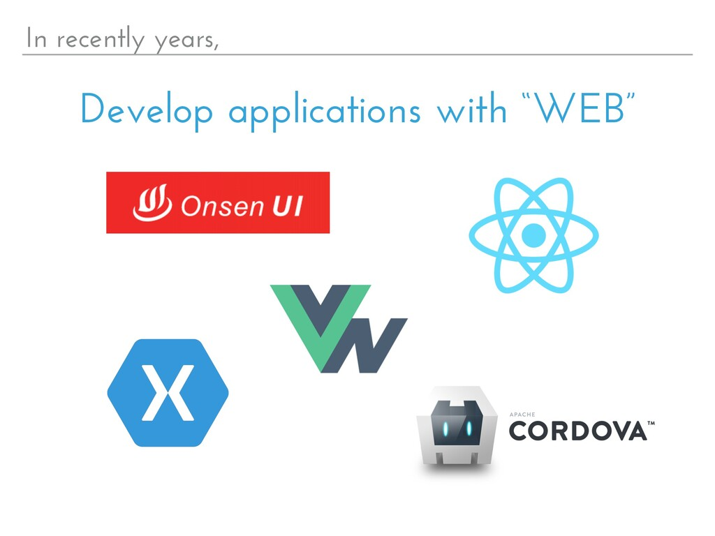 "In recently years, Develop applications with ""W..."