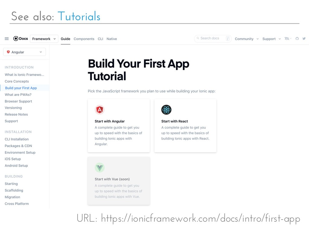 See also: Tutorials URL: https://ionicframework...