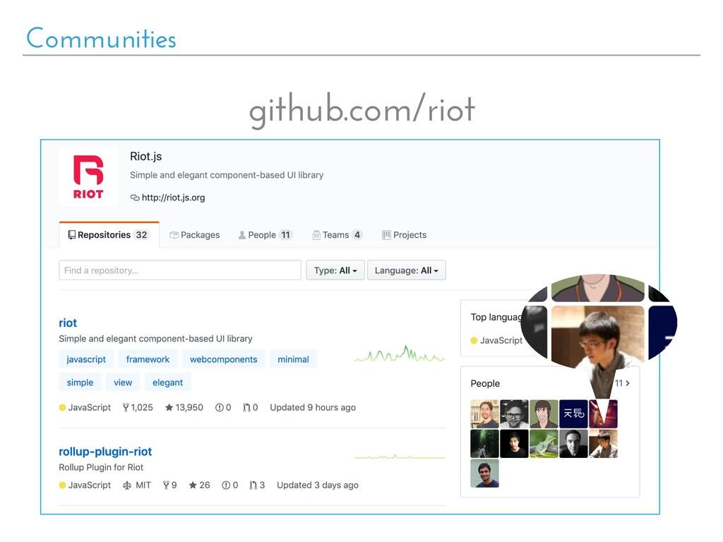 Communities github.com/riot