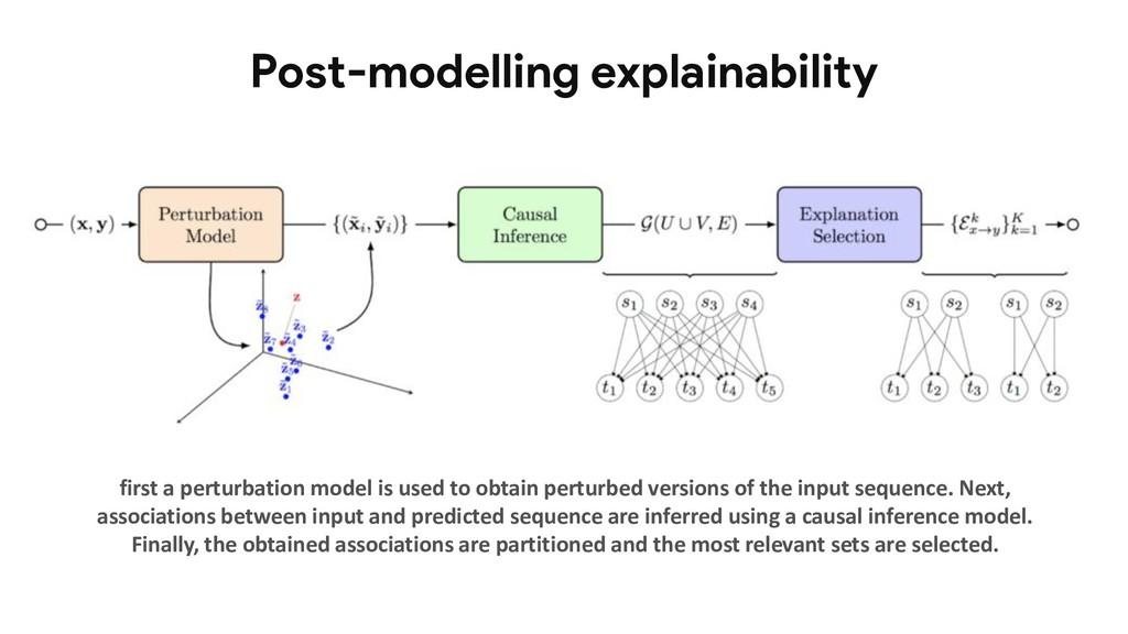 Post-modelling explainability first a perturbat...