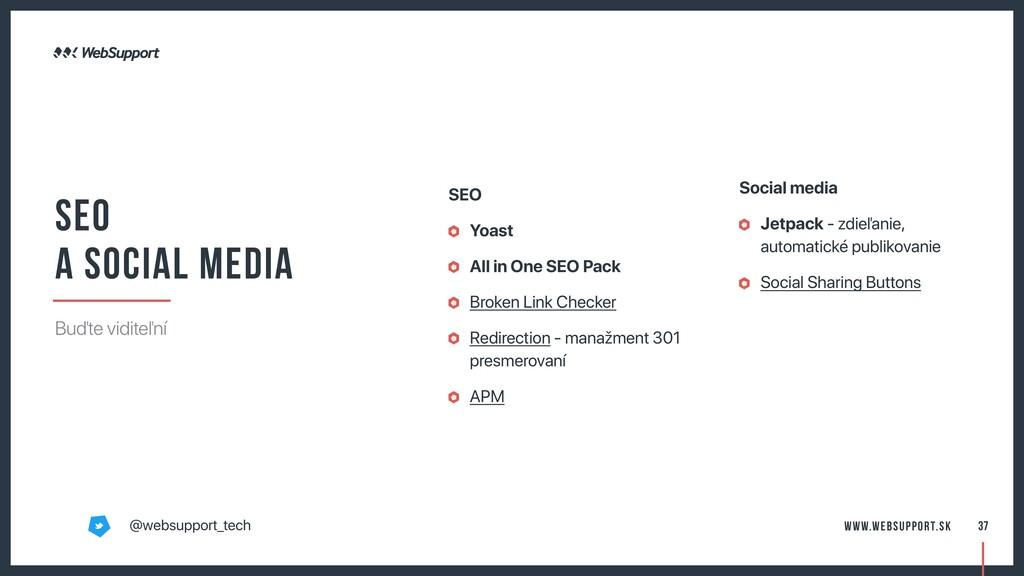 37 Social media Jetpack - zdieľanie, automatick...